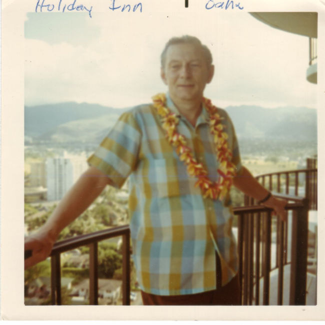 dad in hawaii